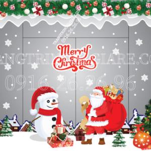 Mẫu decal Noel dán kính
