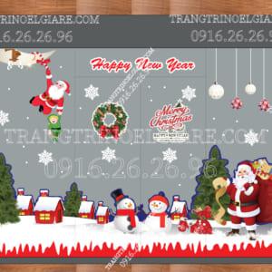 Decal trang trí Noel lên kính