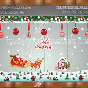 Trang trí Noel kính đẹp gía rẻ